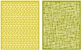 QUICKUTZ Lifestyle Crafts EF0011 Woven Embossing Folder, 2-Pack