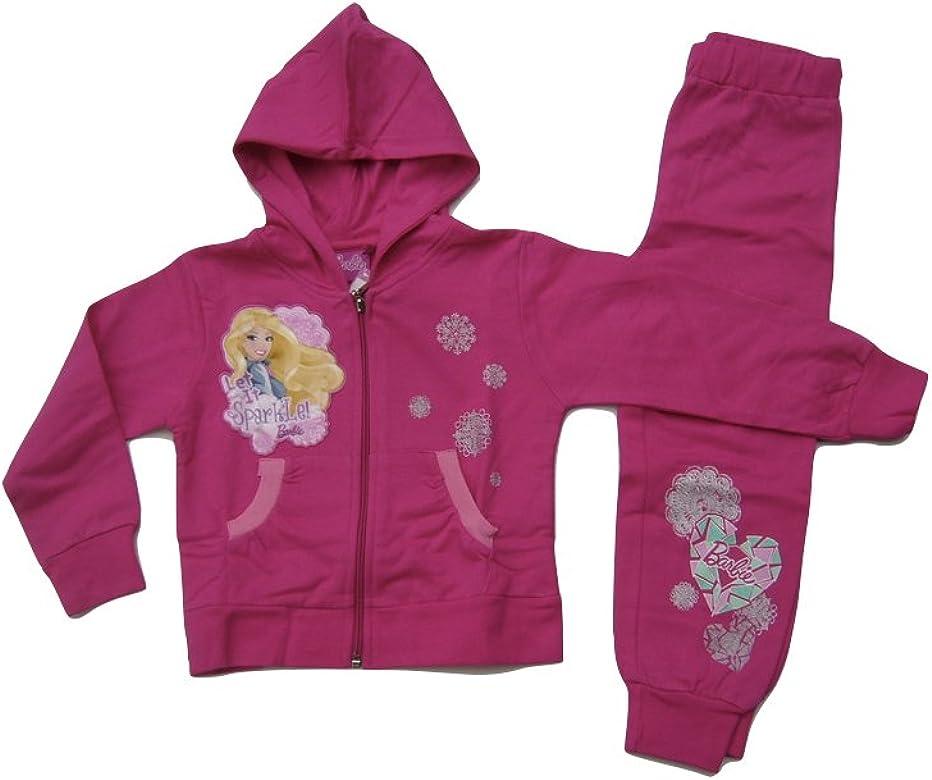 Barbie - Chándal - para niña Rosa Rosa: Amazon.es: Ropa y accesorios