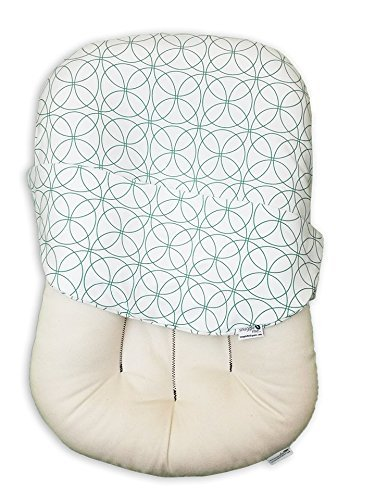 Snuggle Me Organic Infant Padded Lounger with Center Sling for Newborn to 6 Months with Organic Cotton Cover, Infinity by Snuggle Me