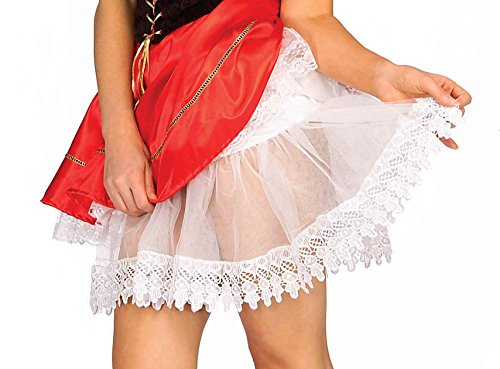 White Teardrop Petticoat (Forum Novelties Women's Accessory Tear Drop Lace Crinoline, White, One)