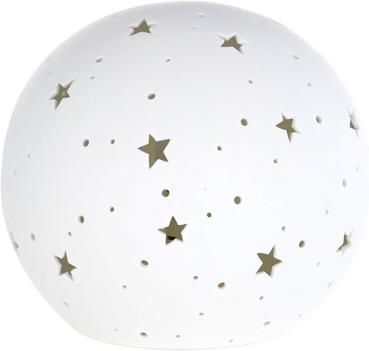 Kids Orb Night Light White Ceramic
