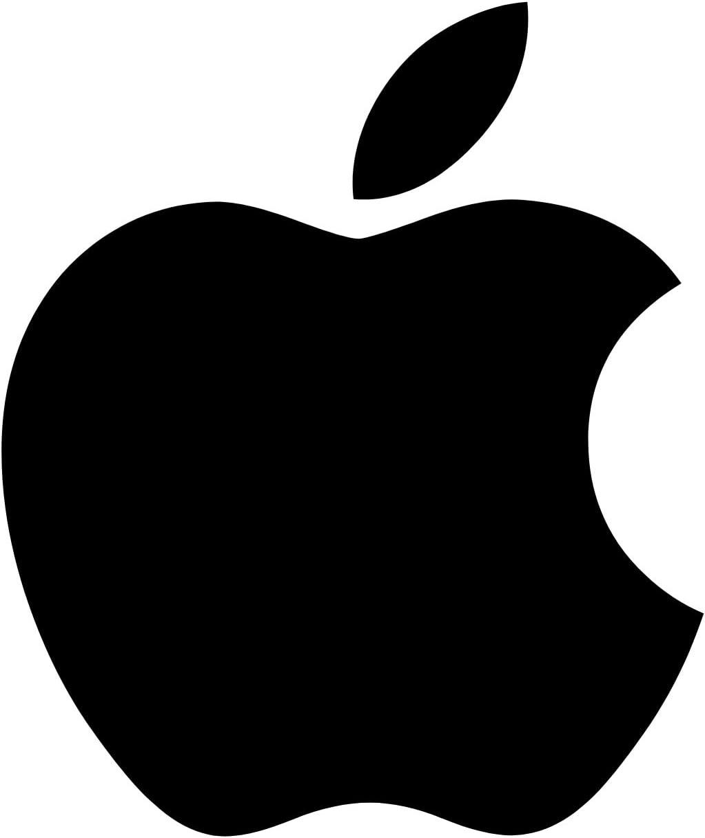 Bianco, XL 10 * 12 cm Galuisi Adesivo Sticker Apple Mela Logo iPhone iOS per Auto Moto Casco.