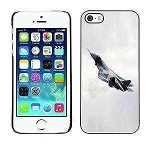 TopCaseStore / la caja del caucho duro de la cubierta de protección de la piel - T fighter - Apple iPhone 5 / 5S