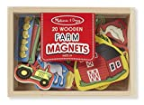 Melissa & Doug Learning Toy Wooden Farm Magnets 20-Piece Pleyset Toy for Kids