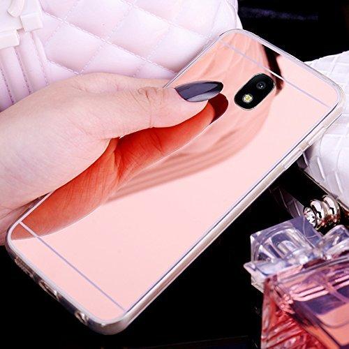 online store 36e50 190d7 ikasus Galaxy J7 Pro Case,Galaxy J730 Mirror Case, Slim Luxury Glitter  Bling Mirror Back Soft TPU Bumper Anti-Scratch Bright Reflection Protective  ...