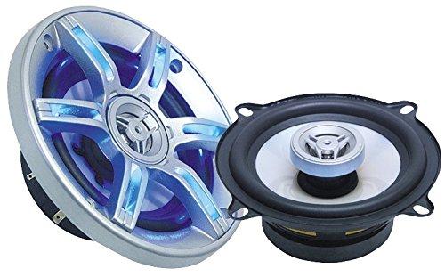 6 opinioni per Megakick / Coppia casse audio Auto 2 vie griglia con LED blu 10cm