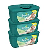Pampers Natural Clean Baby Wipes Tub, 72 Count, 3 Pack