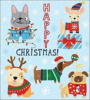 Pack of 5 Dogs In Jumpers Action For Children Charity Christmas Cards Card Packs: Amazon.es: Oficina y papelería