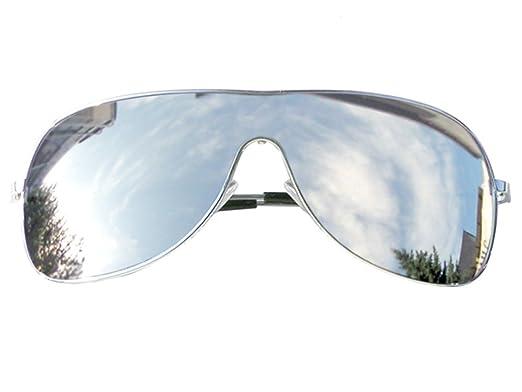 Tedd Haze Lunettes de pilote Lunettes Noir Bleu Miroir avec étui DAK0B05a