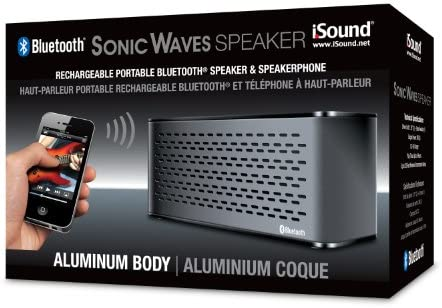 iSound Sonic Waves Bluetooth Speaker with Microphone BLACK