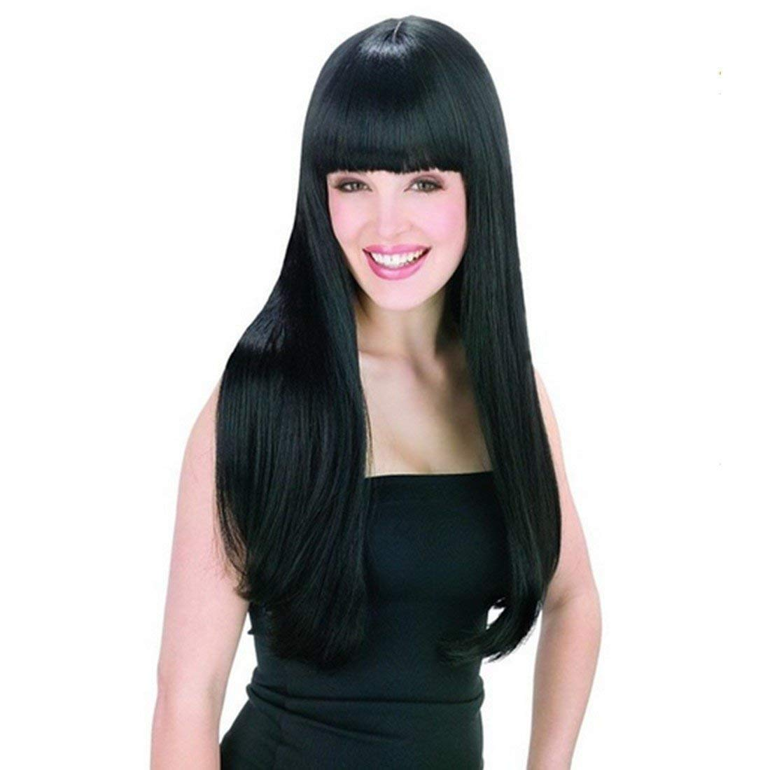 WADEO Perruque Femme Naturelle Brésilien 360 Perruque Bresilienne 360 Lisse Cheveux Naturel Brésilienne Perruque Longue 60cm BT0007-MDUK