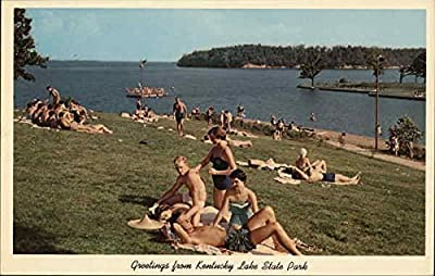 Greetings From Kentucky Lake State Park Gilbertsville Original Vintage Postcard