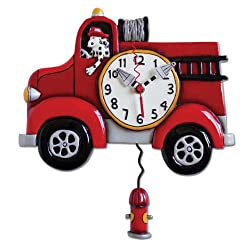 Allen Designs Big Red Firetruck Clock