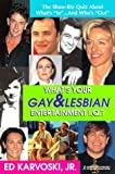img - for What's Your Gay & Lesbian Entertainment IQ : The Show-Biz Quiz About What's 'In'--And Who's 'Out' by Ed Karvoski Jr. (1998-06-01) book / textbook / text book