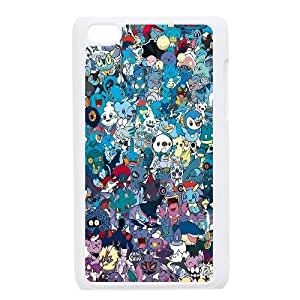 Well Design iPod Touch 4 phone case - design with Pokemon pattern