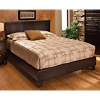 Hillsdale Furniture 1611BKR Harbortown Bed Set with Rails, King, Brown Vinyl