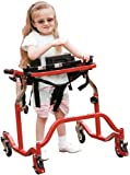 Wenzelite Luminator Gait Trainer with Posterior or Anterior Option, Red, Pediatric