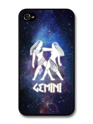 Cool Starsign in Space With Gemini Design Illuminated Symbol case for iPhone 4 4S