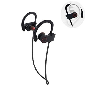 szjsl Auriculares Bluetooth, auriculares, auriculares Bluetooth mejores auriculares deportivos Wireless impermeables con micrófono estéreo Antigolpes para ...