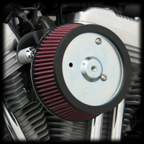 2. Arlen Ness 18-560 Big Sucker Stage 1 Air Cleaner Kit with Black Backing Plate for 2008-2013 Harley FLT Touring Models