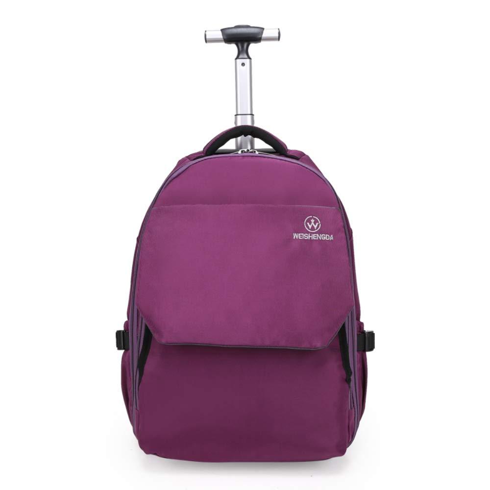 車輪付きラップトップバックパック、ハイスクール、カレッジバックパック、ローリングスクールバッグ、ビジネスバックパックに最適。  パープル B07GZFN7X3