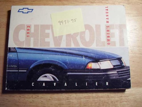1992 Chevrolet Cavalier Owners Manual