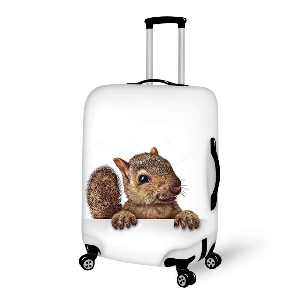 Luggage Cover Animal Themed Cute Squirrel Protective Travel Trunk Case Elastic Luggage Suitcase Protector Cover