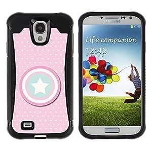 Suave TPU GEL Carcasa Funda Silicona Blando Estuche Caso de protección (para) Samsung Galaxy S4 IV I9500 / CECELL Phone case / / Pink Polka Dot America Shield /