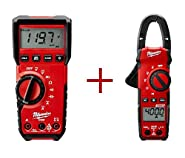 Milwaukee Heavy-Duty True RMS Digital Multimeter 2216-20-2235-20 with 400-Amp Clamp Meter
