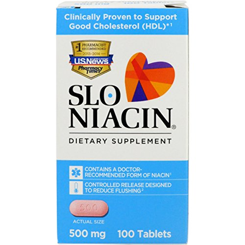 Bran 500 Mg Tabs - Slo-Niacin Dietary Supplement 500 mg Tablets 100 Tablets