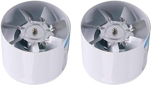 2 Unids Ventilador Extractor de Aire en Línea para Oficina, Hotel ...