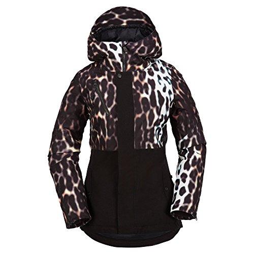Volcom Snow Women's Jasper Insulated Jacket Cheetah (Vent Shell Snowboard Pants)