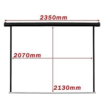 Cablematic - Pantalla de proyección motorizada pared negra de ...