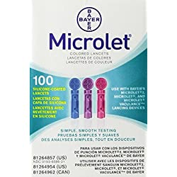 Bayer Microlet Colored Lancets - 100 ct.