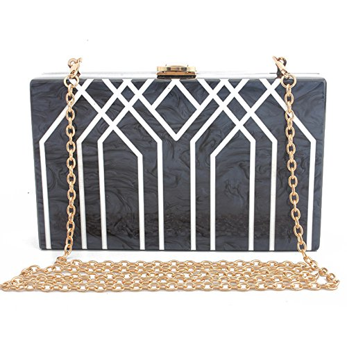 Evening Black Clutch Shoulder Bag Bag Stylish Bag Bag Bag Wedding Clutch Handbag Women Bag Party HY7Bw
