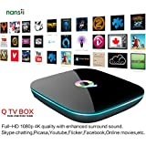 Nansii Amlogic S905 Android 5.1 TV Box Bluetooth 4.0 HD Quad-core 2GB+16GB 2.4G +5G Wifi LAN 3D 4K with Kodi 16.0 Fully Loaded with Latest Live Show/Movie/Sports Q-Box Streaming Media Player