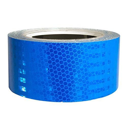 Superbrite Blue Micro Prismatic High Intensity Reflective Tape 18 Mils Thickness - 2 Inch x 30 Foot (Manufacturing Fluorescent Black Strip Light)