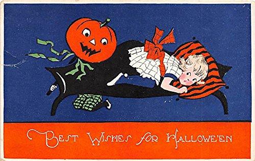 Gibson Art Company Halloween Postcard Old Vintage Post -