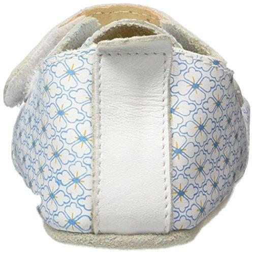 Bobux Baby Mädchen Trainer Blume Weiß Slipper Weiß (Weiß)