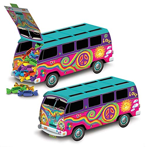 (1 Groovy Retro 60s Party Decoration HIPPIE Tie Dye LOVE PEACE BUS)