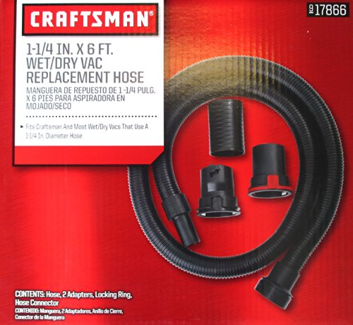 Craftsman 1 1/4-inch x 6-foot Wet/Dry Vac Replacement Hose - Craftsman Wet Dry Vacuums