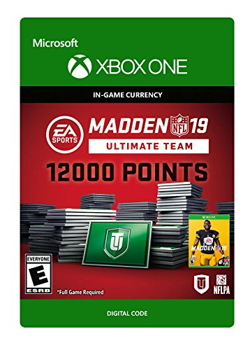 Madden NFL 19: MUT 12000 Madden Points Pack - Xbox One [Digital Code] (Madden Nfl 17 Standard Edition Xbox One)
