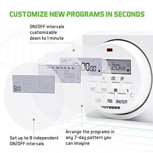 VIVOSUN 7 Day Programmable Digital Timer