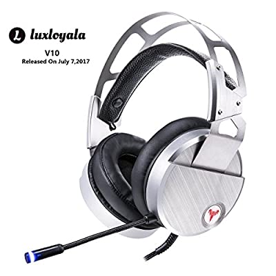 Lol Gaming Headset for Gamer Over Ear,Surround Stereo Sound Game Headphone, Metal Steel Headband Strip Gaming Headphone with LED Mic,Noise Isolating, USB Wired Headphone for Windows PC / Laptops / MAC