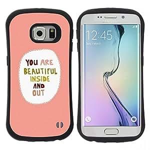 "Hypernova Slim Fit Dual Barniz Protector Caso Case Funda Para Samsung Galaxy S6 EDGE [Dulce Amor Corazones novia""]"