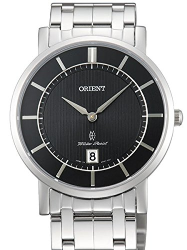 Orient Class Quartz Dress Watch with Sapphire Crystal and Black Dial GW01005B