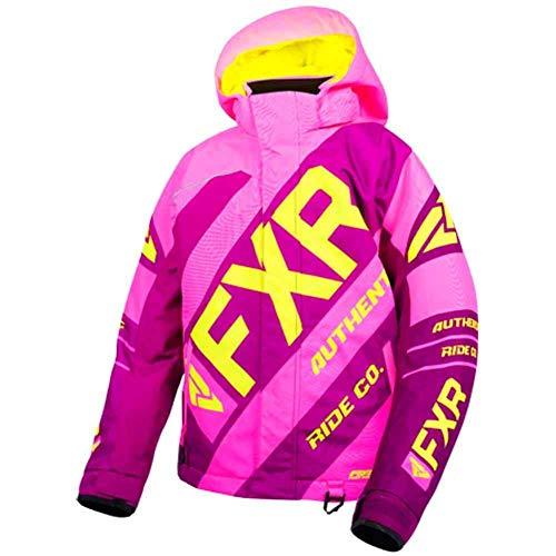FXR Childrens CX Jacket (Elec Pink/Wineberry/Hi Vis, Size 6)
