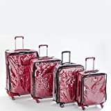 """Blasani Luggage Cover Protector Suitcase Clear PVC """"LARGE"""" Fits (26""""~27"""") Bags"""