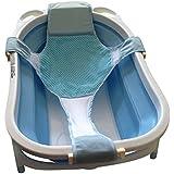 HULISEN Baby Bagno Tubo Supporto Cotone + Poliestere - Rete Regolabile Sedile per Vasca da Bagno Bambino Sicurezza Sedile Bambino