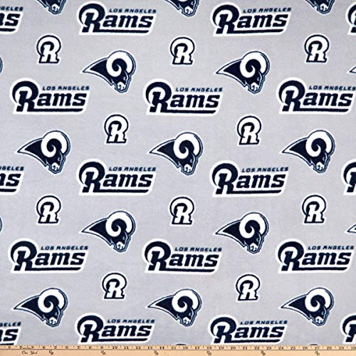(Fabric Traditions NFL Fleece L.A. Rams Fabric, Navy, Fabric By The Yard )